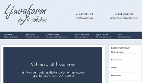 ljuvaform screenshot