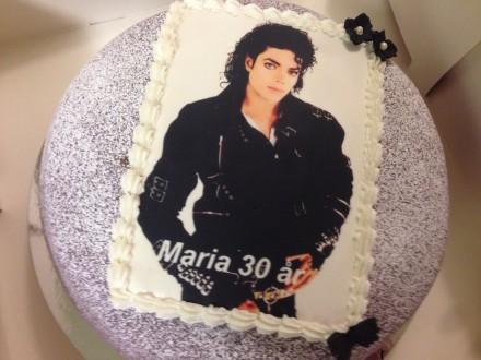 Michael Jackson tårta BAD