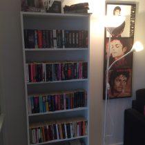 Nya bokhyllan på plats